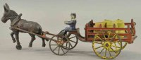 Wilkins Cast-Iron-Carriages Horse drawn stake wagon, cast...