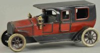 Bing Tin-Oldtimer Limousine with headlamps and driver,...