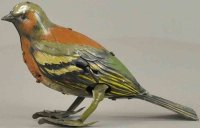 Eberl Hans Tin-Animals Hopping bird, wind-up toy, made of...