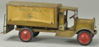 Keystone Tin-Trucks Pressed steel Packard ambulance truck...