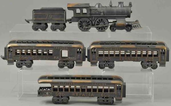 Keystone Railway-Floor Train Electroplated express set, consists of locomotive #70, tende