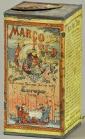 Lehmann Tin-Toys Marco Polo tea can, great lithographed...