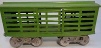 Lionel Railway-Freight Wagons Cattle car -13.9 in green,...