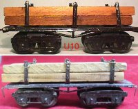 Ives Railway-Freight Wagons Lumber car #69 with eight...