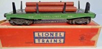 Lionel Railway-Freight Wagons Lumber car #3461X with...
