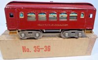 Lionel Railway-Passenger Cars Pullman car #35.5 with...