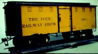 Ives Railway-Freight Wagons Circus box car #192G with...