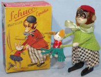 Schuco Tin-Dance Figures Dance monkey with mouse baby and...