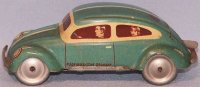 Tippco Tin-Cars Sheet metal pretzel beetle lithographed...