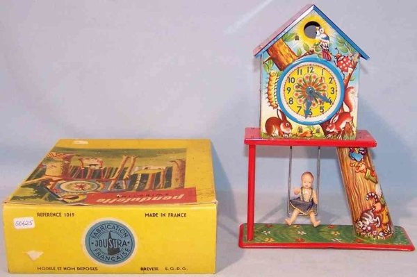Joustra Tin-Toys Pendulette #1019 Swing-time childrens swing in original box