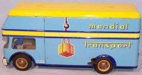 Joustra Tin-Trucks Mondial Transport #432, French van...