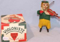 SFA Tin-Dance Figures Clown with violin #725 in original...