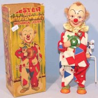 Alps Tin-Clowns Large clown, mechanical jester with...