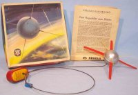 Arnold Tin-Toys Remote Control Satellite with crank drive...