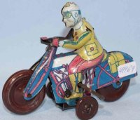 PAYA Tin-Motorcycles Motorcyclist made of tin,...
