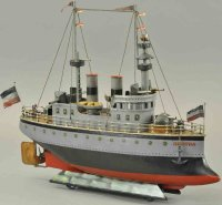 Maerklin Tin-Ships Battleship Hertha, this exquisite...