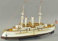 Maerklin Tin-Ships Steam battleship Tirpitz, the first...