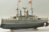 Maerklin Tin-Ships Battleship Sankt Georg has every...
