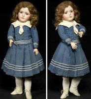 Simon & Halbig Dolls Pale bisque head doll #1448 with...