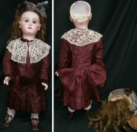 Jumeau Dolls Bisque socket head doll #16 with very full...