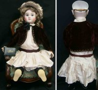 Steiner Jules Nicholas Dolls Bebe bisque socket head doll...