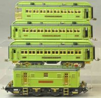 Lionel Railway-Trains Passenger two-tone grenn Girad set,...