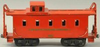 Buddy L Railway-Freight Wagons Caboose with eight wheels,...