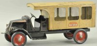 American National Co. Tin-Trucks Toledo Blue live streak...