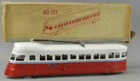 Buddy L Railway-Floor Train Single car zephyr #121 wit...