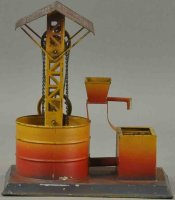 Unknown Steam Toys-Drive Models Tin water well steam...