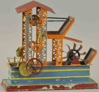 Bing Steam Toys-Drive Models Steam driven water wheel,...