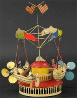 Mueller & Kadeder Tin-Carousels Carousel with four flying...