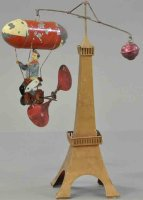 Mueller & Kadeder Tin-Carousels Dirigible bicylist and...