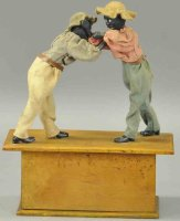 Ives Wood-Figures 2 boxers with clockwork, highly...