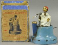 JWB Tin-Figures Bubble blower toy, hand painted tin and...
