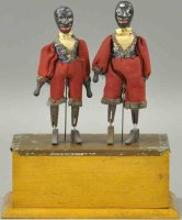 Automatic Toy Works Wood-Figures Jubilation dancers with...