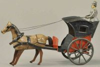 Martin Fernand Tin-Carriages Le cab, Hansom cab, early...