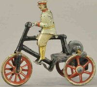 Issmayer Tin-Penny Toy Man on tricycle, early inertia...
