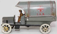 Distler Tin-Penny Toy Red Cross army truck with a large...