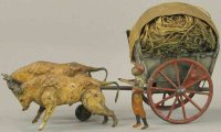 Martin Fernand Tin-Carriages Les Bouefs, open oxen cart...