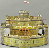 Maerklin Tin-Toys Large hand painted tinplate castle with...