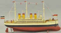 Fleischmann Tin-Ships Large four stack ocean liner, made...