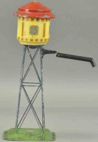 Plank Ernst Tin-Toys Water tower with embossed EP badge...