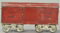 Lionel Railway-Freight Wagons Box car #14.9 in red with...