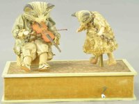 Zinner & Sohn Tin-Automata Two adorable kittens musical...