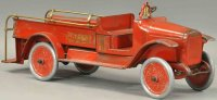 Buddy L Tin-Fire-Truck Insurance patrol truck, in red...