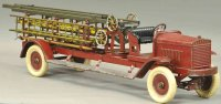 Kingsbury toys Tin-Fire-Truck Aerial ladder truck, dark...