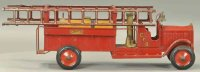 Structo Tin-Fire-Truck Pumping fire engine with ladders,...