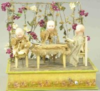 Unknown Tin-Automata Children having tea time as...