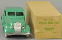 Kingsbury toys Tin-Cars Airflow sedan #249, in green with...